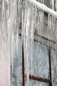 Icicles on Wisconsin Roof - American Roofing